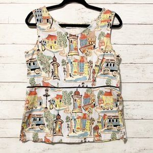 Liz and Jane Vintage Town Inspired Tank